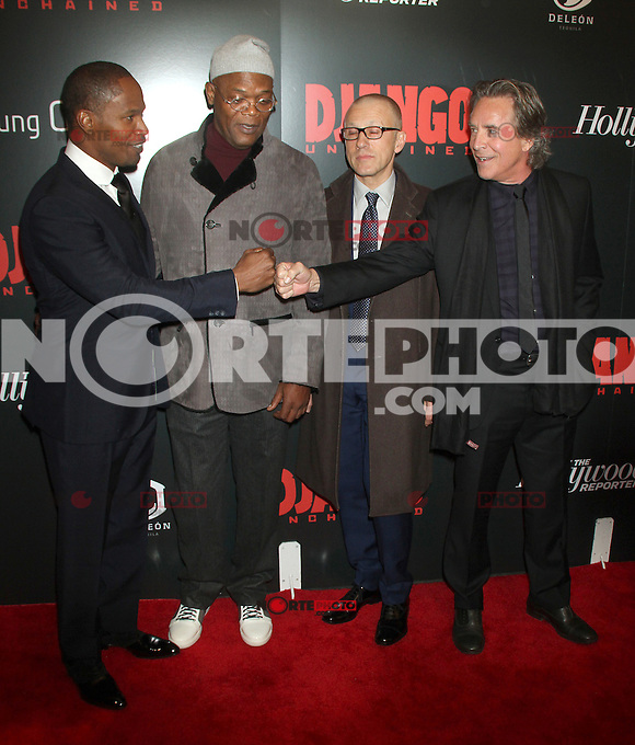 NEW YORK, NY - DECEMBER 11: Jamie Foxx, Samuel L. Jackson, Christoph Waltz and Don Johnson at the Screening Of 'Django Unchained' at  the Ziegfeld Theater on December 11, 2012 in New York City.Credit: RW/MediaPunch Inc. /NortePhoto© /NortePhoto /NortePhoto