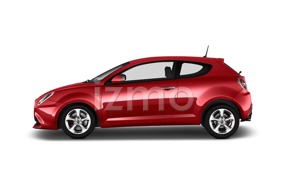 Car Driver side profile view of a 2016 Alfaromeo Mito Super 3 Door hatchback Side View