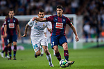Ander Capa Rodriguez (r) of SD Eibar fights for the ball with Daniel Ceballos Fernandez, D Ceballos of Real Madrid during the La Liga 2017-18 match between Real Madrid and SD Eibar at Estadio Santiago Bernabeu on 22 October 2017 in Madrid, Spain. Photo by Diego Gonzalez / Power Sport Images