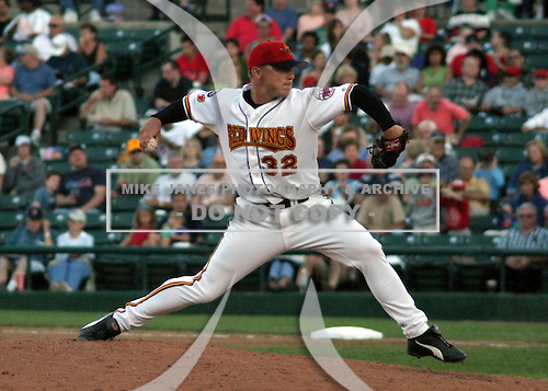 July 19, 2003:  Jeremy Palki of the Rochester Red Wings during a game at Frontier Field in Rochester, New York.  Photo by:  Mike Janes/Four Seam Images