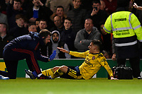 Injury concern for Lucas Torreira of Arsenal during Portsmouth vs Arsenal, Emirates FA Cup Football at Fratton Park on 2nd March 2020