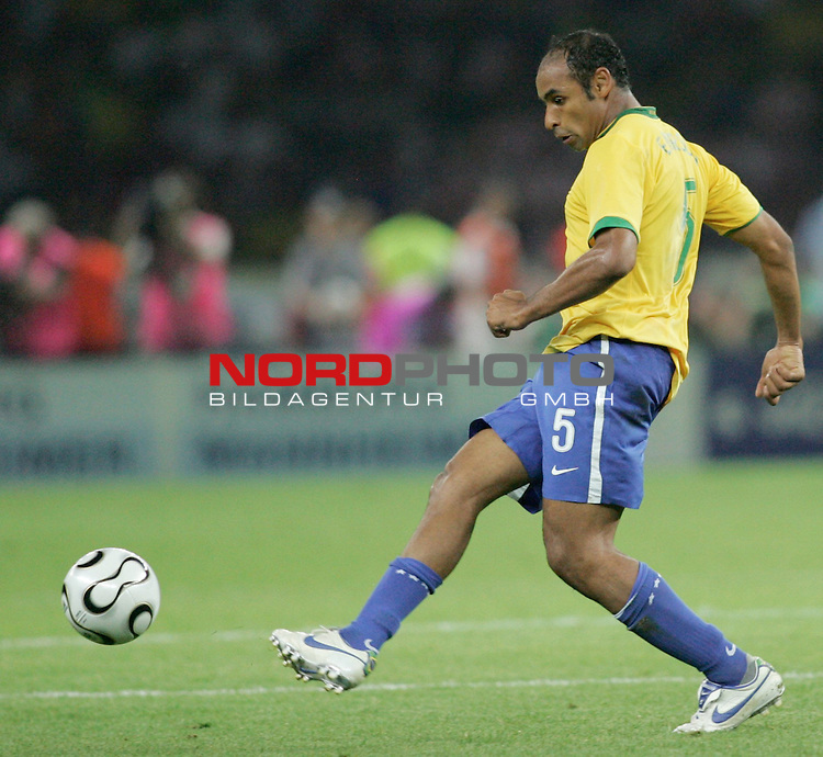 FIFA WM 2006 - Gruppe F ( Group F )<br /> Play #11 (13-Jun) - Brazil - Croatia.<br /> Emerson from Brazil kicks the ball during the match of the World Cup in Berlin.<br /> Foto &copy; nordphoto