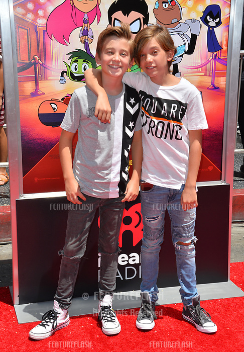 Parker Bates &amp; Prestyn Bates at the premiere for &quot;Teen Titans Go! to the Movies&quot; at the TCL Chinese Theatre, Los Angeles, USA 22 July 2018<br /> Picture: Paul Smith/Featureflash/SilverHub 0208 004 5359 sales@silverhubmedia.com