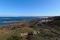 Blick vom Corbière Lighthouse in die St.Quen's Bay, Insel Jersey, Kanalinseln