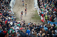 Sven Nys (BEL/Crelan-AAdrinks) at the bottom of &quot;The Pit&quot;<br /> <br /> GP Zonhoven 2014
