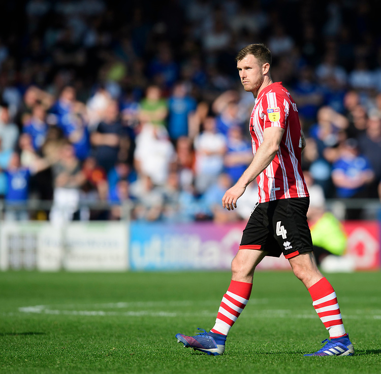 Lincoln City's Michael O'Connor<br /> <br /> Photographer Chris Vaughan/CameraSport<br /> <br /> The EFL Sky Bet League Two - Lincoln City v Tranmere Rovers - Monday 22nd April 2019 - Sincil Bank - Lincoln<br /> <br /> World Copyright © 2019 CameraSport. All rights reserved. 43 Linden Ave. Countesthorpe. Leicester. England. LE8 5PG - Tel: +44 (0) 116 277 4147 - admin@camerasport.com - www.camerasport.com