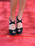 "WESTWOOD, CA. - June 23: Actress Amber Heard's shoes at the 2009 Los Angeles Film Festival's premiere of ""Public Enemies"" at the Mann Village Theatre on June 23, 2009 in Westwood, Los Angeles, California."
