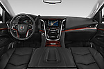 Stock photo of straight dashboard view of a 2015 Cadillac Escalade ESV 2WD Luxury 5 Door SUV Dashboard