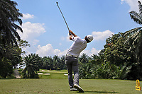Bowen Xiao (CHN) in action on the 4th tee during Round 1 of the Maybank Championship at the Saujana Golf and Country Club in Kuala Lumpur on Thursday 1st February 2018.<br /> Picture:  Thos Caffrey / www.golffile.ie<br /> <br /> All photo usage must carry mandatory copyright credit (© Golffile | Thos Caffrey)