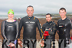 Cathy Fisher, Martin O'Regan, John Roche and Daniel Doyle at the  Ballyheigue Festival Swim on Thursday