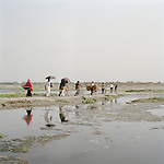 In Chapi Nawabgang city, Bangladesh, every monsoon the floods got so bad , a bridge was built to help the community, the opposite extream now happens in the dry season. The waters are shallow enough for people to walk across.