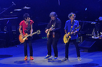Ronnie Wood, Mick Taylor, Keith Richards. Rolling Stones concert, Perth, Western Australia. October 2014