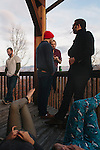 Friends and family gather in the mountains for Kendrick Brinson's 30th birthday party, January 12, 2013.