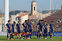 Oliver Burke (No 7) of Scotland U21's marches forward to take his penalty in the shoot-out during Turkey Under-21 vs Scotland Under-21, Tournoi Maurice Revello Football at Stade Francis Turcan on 9th June 2018
