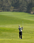 JEJU, SOUTH KOREA - APRIL 23:  Tano Goya of Argentina plays his approach shot on the 18th hole during the Round Two of the Ballantine's Championship at Pinx Golf Club on April 23, 2010 in Jeju island, South Korea. Photo by Victor Fraile / The Power of Sport Images