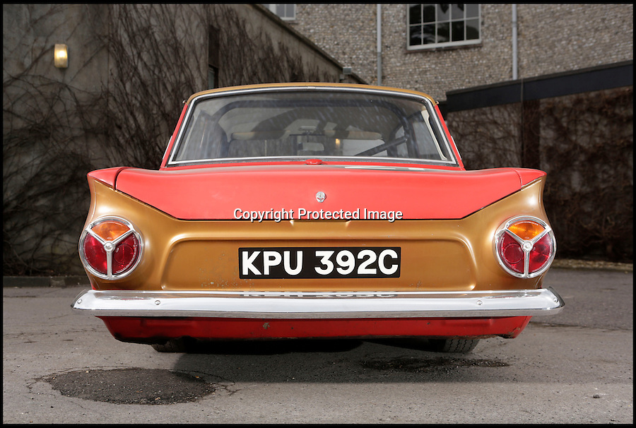 BNPS.co.uk (01202 558833)<br /> Pic: SimonClay/Bonhams//BNPS<br /> <br /> ***Please Use Full Byline***<br /> <br /> £140,000 might seem a lot of money for a 50 year old Ford Cortina - but this 1965 version is a little bit of British automotive history that should have buyers flocking to the Goodwood Festival of Speed this friday to bid for some unique racing heritage.<br /> <br /> Back in the 1970s and '80s, the mass-produced vehicle was the archetypal used motor that filled the pages of second hand car ad's - But despite it rather dated looks this car is no old banger.<br /> <br /> Tuned and powered by Lotus and driven by Sir John Whitemore this unlikely looking racing machine won every race in the 1965 European Touring Car Championship - leaving more famous continental manufacturers in its wake.<br /> <br /> Powered by a 2 litre engine the car was practically unbeatable throughout the 1960's with famous drivers such as Graham Hill and Jim Clark learning the skills that would later take them to F1 glory in the understated Ford.<br /> <br /> Bonhams - Goodwood Festival of Speed 12/7 - £140,000