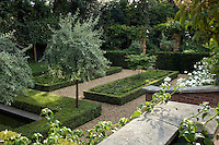 The restrained palette and formal design of the sunken garden have resulted in a haven of peace and tranquillity