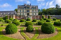 France, Indre-et-Loire (37), Montlouis-sur-Loire, jardins du château de la Bourdaisière, (vue aérienne)