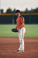 AZL Giants Orange first baseman Tyler Wyatt (83) during an Arizona League game against the AZL Mariners on July 18, 2019 at the Giants Baseball Complex in Scottsdale, Arizona. The AZL Giants Orange defeated the AZL Mariners 7-4. (Zachary Lucy/Four Seam Images)
