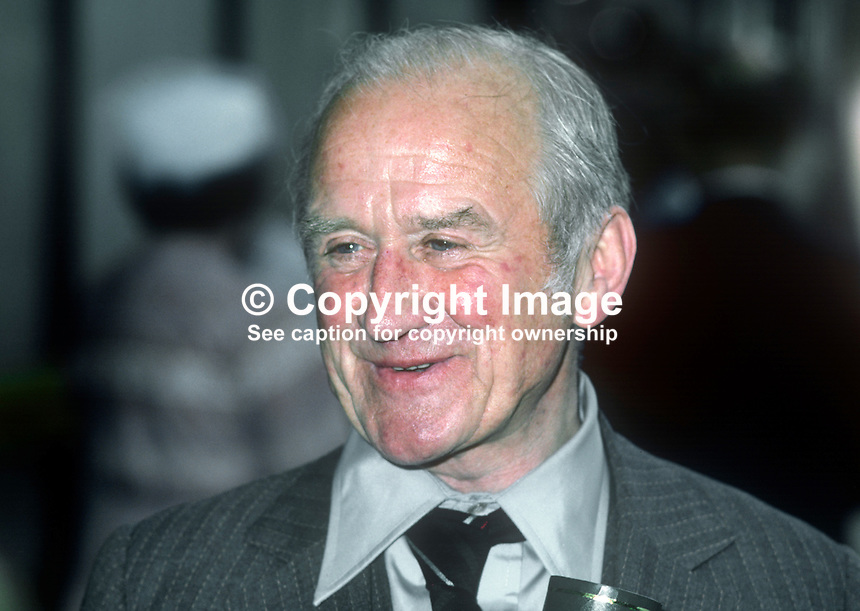 Cyril Cusack, actor, stage, screen, television, Irish, born Natal, South Africa, where his father was a member of the local mounted police. Recipient of honorary degree, New University of Ulster, Coleraine, N Ireland. 19820700093CC1..Copyright Image from Victor Patterson, 54 Dorchester Park, Belfast, UK, BT9 6RJ.  Tel: +44 28 90661296  Mobile: +44 7802 353836.Email: victorpatterson@me.com Email: victorpatterson@gmail.com..For my Terms and Conditions of Use go to http://www.victorpatterson.com/ and click on Terms & Conditions