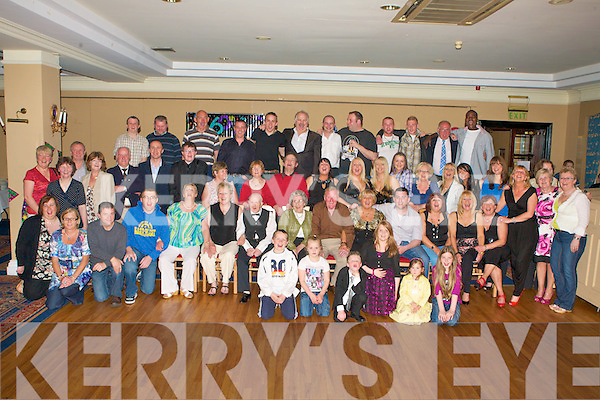 6755-6768.60TH BIRTHDAY: Joan O'Connor, Kevin Barry Villas, Tralee (seated 5th left) enjoying a great time celebrating her 60th birthday with very large group of family and friends at the Abbeygate Hotel on Saturday.