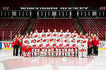 Wisconsin Badgers 2010-11 women's hockey team photo. Please note that this photo as been altered. Two players were added to the photo. (Photo by David Stluka)