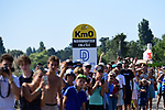 Km0 the start of Stage 1 of the 2018 Tour de France running 201km from Noirmoutier-en-l&rsquo;&Icirc;le to Fontenay-le-Comte, France. 7th July 2018. <br /> Picture: ASO/Pauline Ballet | Cyclefile<br /> All photos usage must carry mandatory copyright credit (&copy; Cyclefile | ASO/Pauline Ballet)