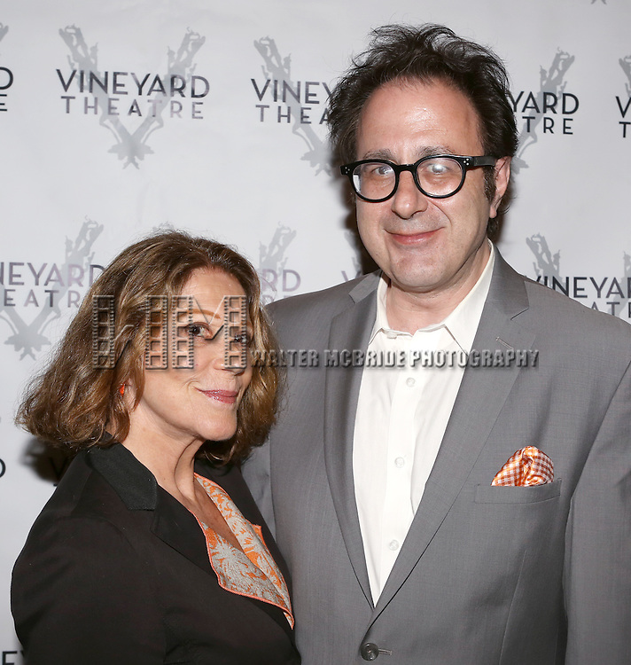 Linda Lavin, Nicky Silver attending the Opening Night After Party for the Vineyard Theatre Production of 'Somewhere Fun' at the Vineyard Theatre in New York City on June 04, 2013.