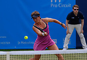June 14th 2017, The Northern Lawn tennis Club, Manchester, England; ITF Womens tennis tournament; An-Sophie Mestach (BEL) in action during her first round singles match against number three seed Alison Van Uytvanck (BEL)