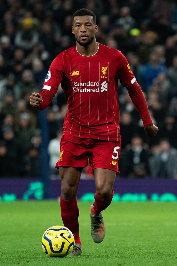 Liverpool's Georginio Wijnaldum <br /> <br /> Photographer Stephanie Meek/CameraSport<br /> <br /> The Premier League - Tottenham Hotspur v Liverpool - Saturday 11th January 2020 - Tottenham Hotspur Stadium - London<br /> <br /> World Copyright © 2020 CameraSport. All rights reserved. 43 Linden Ave. Countesthorpe. Leicester. England. LE8 5PG - Tel: +44 (0) 116 277 4147 - admin@camerasport.com - www.camerasport.com