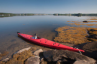 Kayak, Sheep Island, Castine, Maine, US
