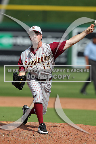 Florida State Seminoles Travis Buckley #14 during a scrimmage vs the Philadelphia Phillies  at Bright House Field in Clearwater, Florida;  February 24, 2011.  Philadelphia defeated Florida State 8-0.  Photo By Mike Janes/Four Seam Images