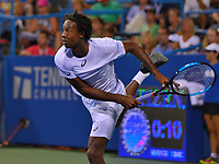 Washington, DC - August 2, 2017: Gael Monfils of France plays during a match with Yuki Bhambri of India at the Citi Open held at the Rock Creek Tennis Center in Washington, D.C., August 2, 2017.  (Photo by Don Baxter/Media Images International)