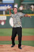 2007:  Bobby Grich throws out the first pitch before a Rochester Red Wings game at Frontier Field during an International League baseball game. Photo By Mike Janes/Four Seam Images