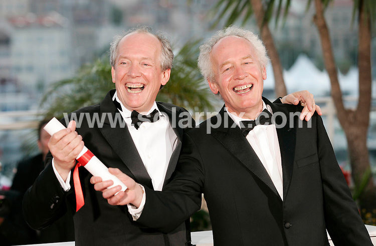 **ALL ROUND PICTURES FROM SOLARPIX.COM**                                             **UK AND SPAIN SYNDICATION RIGHTS ONLY**                                                                                  Caption: Golden Globe awards winner´s photocall at the  64th Cannes Film Festival in France.                                                                              This pic:  Jean- Pierre & Luc Dardenne                                                                                            JOB REF:13418        CPR/Heinz       DATE:23.05.2011                                                          **MUST CREDIT SOLARPIX.COM OR DOUBLE FEE WILL BE CHARGED**                                                                      **MUST AGREE FEE BEFORE ONLINE USAGE**                               **CALL US ON: +34 952 811 768 or LOW RATE FROM UK 0844 617 7637**