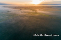 63893-03709 Sunrise and fog aerial view Marion Co. IL
