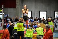 Ancona, Italy 06/03/2016.<br /> Campionati Italiani Assoluti Indoor, nella foto il campione e primatista italiano del salto in alto Gianmarco Tamberi misura record 2.38mt. <br /> Di Loreto - Fortunato/buenaVista*photo