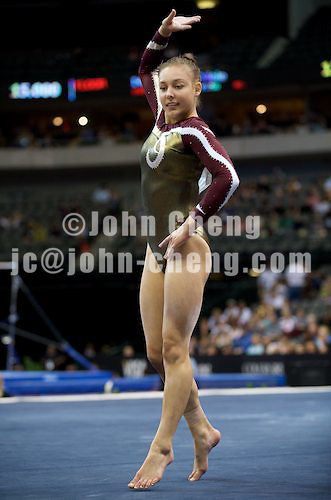 8/13/09 - Photo by John Cheng for USA Gymnastics.  VISA Championships take place at the American Airline Center in Dallas, Texas.