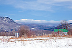 Mount Ellen in late winter in New Haven, VT, USA