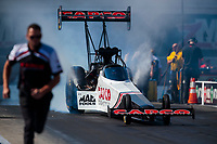 Oct 14, 2019; Concord, NC, USA; NHRA top fuel driver Steve Torrence during the Carolina Nationals at zMax Dragway. Mandatory Credit: Mark J. Rebilas-USA TODAY Sports