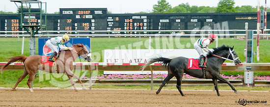 Valiant Boy SBFAR winning at Delaware Park on 5/27/13.