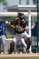 Pittsburgh Pirates Chris Harvey (36) during a minor league spring training game against the Toronto Blue Jays on March 21, 2015 at Pirate City in Bradenton, Florida.  (Mike Janes/Four Seam Images)