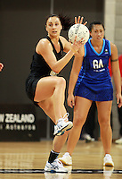 07.08.2010 Silver Ferns Joline Henry in action during the Silver Ferns v Samoa netball test match played at Te Rauparaha Arena in Porirua Wellington. Mandatory Photo Credit ©Michael Bradley.
