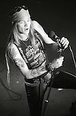 Axl Rose Lead Singer of Guns n Roses Live 1987.Photo Credit: Eddie Malluk/AtlasIcons.com