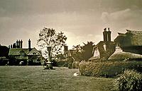 Blaise Hamlet Plan by John Nash, 1810-11. Double Cottage, Rose Cottage, Dial Cottage, and Circular Cottage.