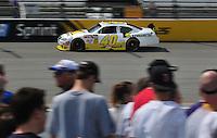 May 2, 2008; Richmond, VA, USA; NASCAR Sprint Cup Series driver Ken Schrader during practice for the Dan Lowry 400 at the Richmond International Raceway. Mandatory Credit: Mark J. Rebilas-