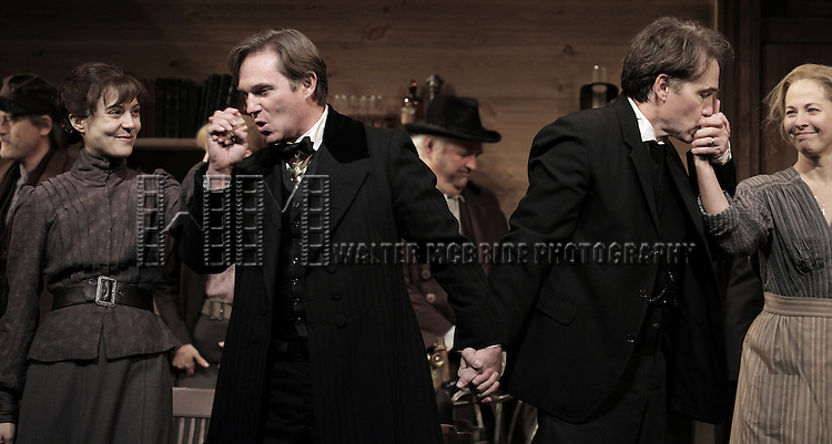 Maite Alina, Richard Thomas, Boyd Gaines and Kathleen McNenny during the Broadway Opening Night Performance Curtain Call for  'An Enemy of the People' at the Samuel J. Friedman Theatre in New York. Sept. 27, 2012