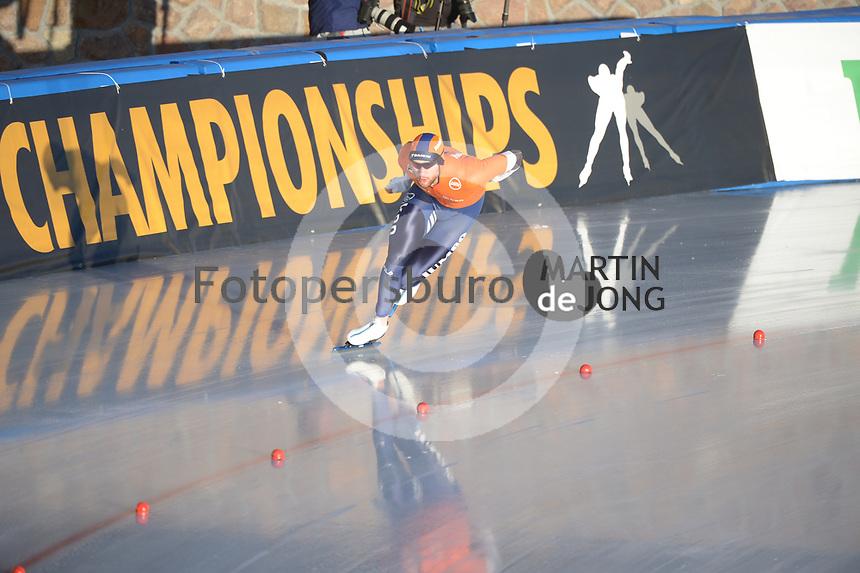 SPEED SKATING: COLLALBO: Arena Ritten, 11-01-2019, ISU European Speed Skating Championships, Thomas Krol (NED), ©photo Martin de Jong