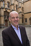 Travel writer Jonny Bealby in front of the Divinity School during the FT Weekend Oxford Literary Festival, Sunday 10 April 2016. Photo © Graham Harrison.