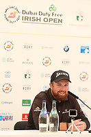 Shane Lowry (IRL) at a press conference during the preview to the Dubai Duty Free Irish Open, Ballyliffin Golf Club, Ballyliffin, Co Donegal, Ireland.<br /> Picture: Golffile | Jenny Matthews<br /> <br /> <br /> All photo usage must carry mandatory copyright credit (&copy; Golffile | Jenny Matthews)